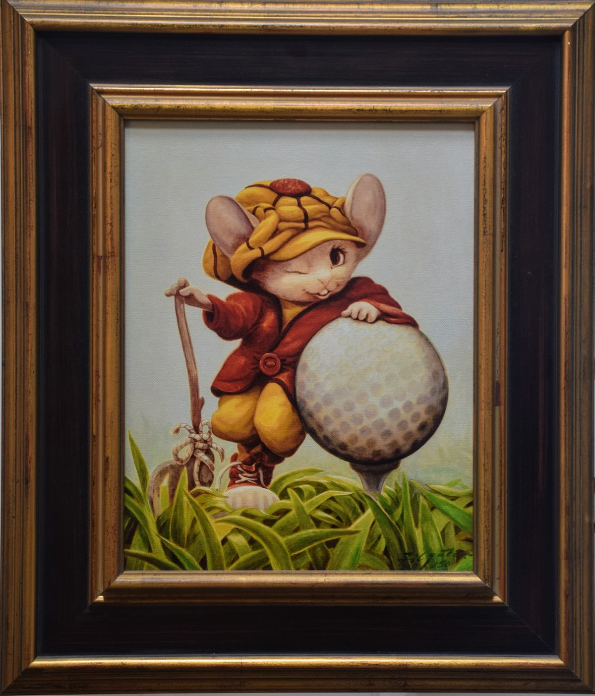 The Golfer (framed)